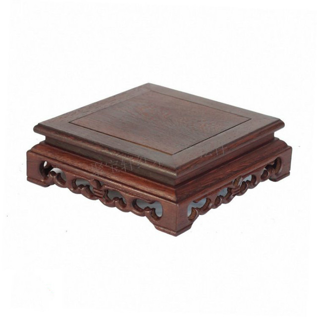 アナトーウェンジ木製彫刻工芸品家具の記事ベース石盆栽ポットフレームベース