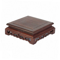 Annatto Wenge Wood Carving Handicraft Furnishing Articles Base Stone Bonsai Pot Frame Base