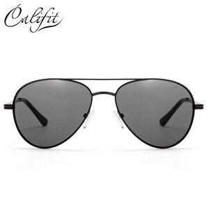 Image 2 - CALIFIT Pilot Classic Men Optical Prescription Glasses Myopia Vintage Oversized Degree Progressive Photochromic Glasses Male