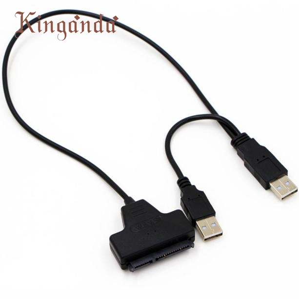 GRACEFUL USB 2.0 SATA 7+22Pin to USB 2.0 Adapter Cable For 2.5 HDD Laptop Hard Disk Drive JAN30 usb 2 0 to sata 22pin connection cable for 2 5 hdd black 25cm