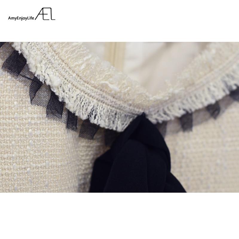 Ael rundhals reich taille bogen weste dress flachs grat 2017 sommer - Damenbekleidung - Foto 6
