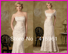 Gorgeous A Line Long Lace Mother of the Bride Groom Dress Gowns With Bolero M786