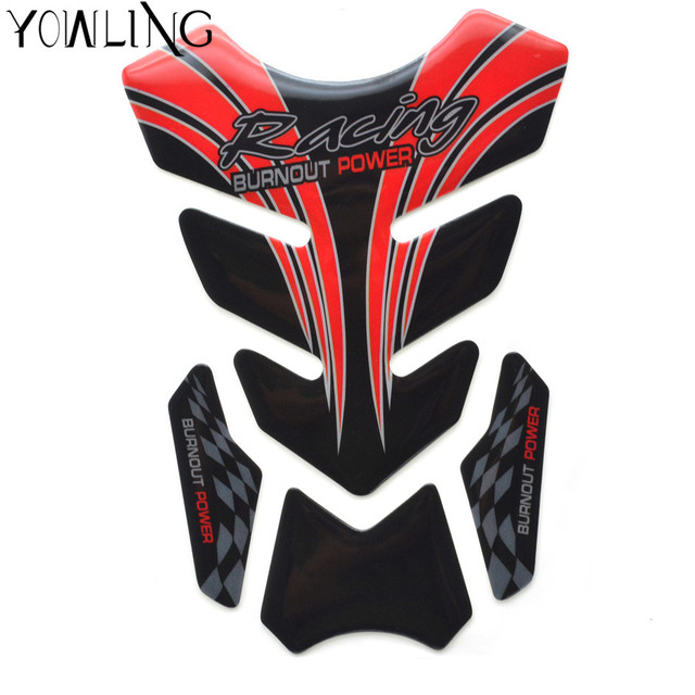 Motorcycle Decal Oil Fuel Tank Pad Protector Skull Racing Sticker
