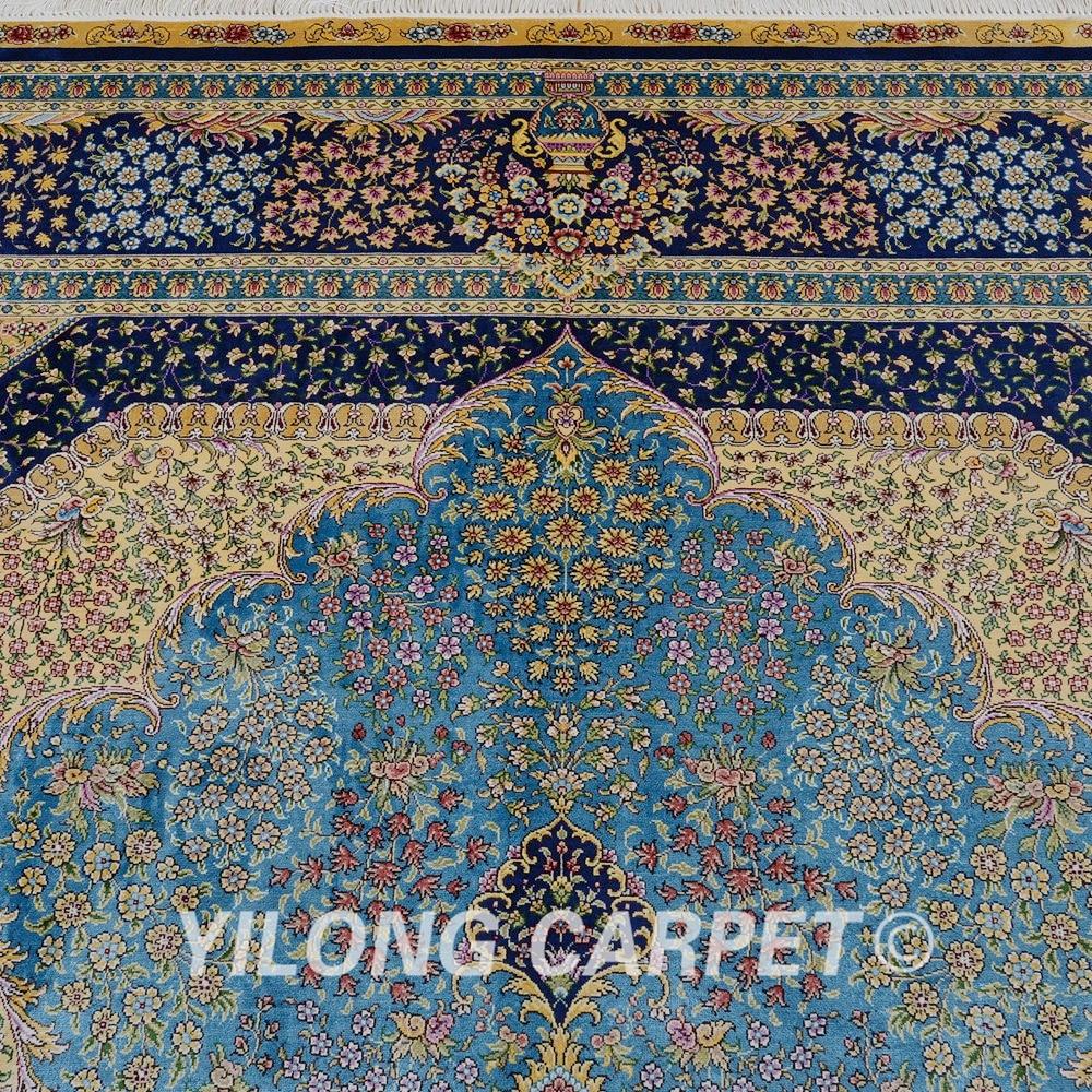 Yilong 6'x9 'Vantage ръчно заплетен син килим - Домашен текстил - Снимка 5