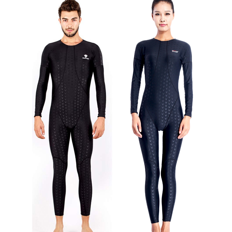 Fancey 554 plein corps couple maillot de bain plongée sous-marine costume pour hommes combinaison néoprène chasse sous-marine costume longue Course Maillots De Bain plus la taille