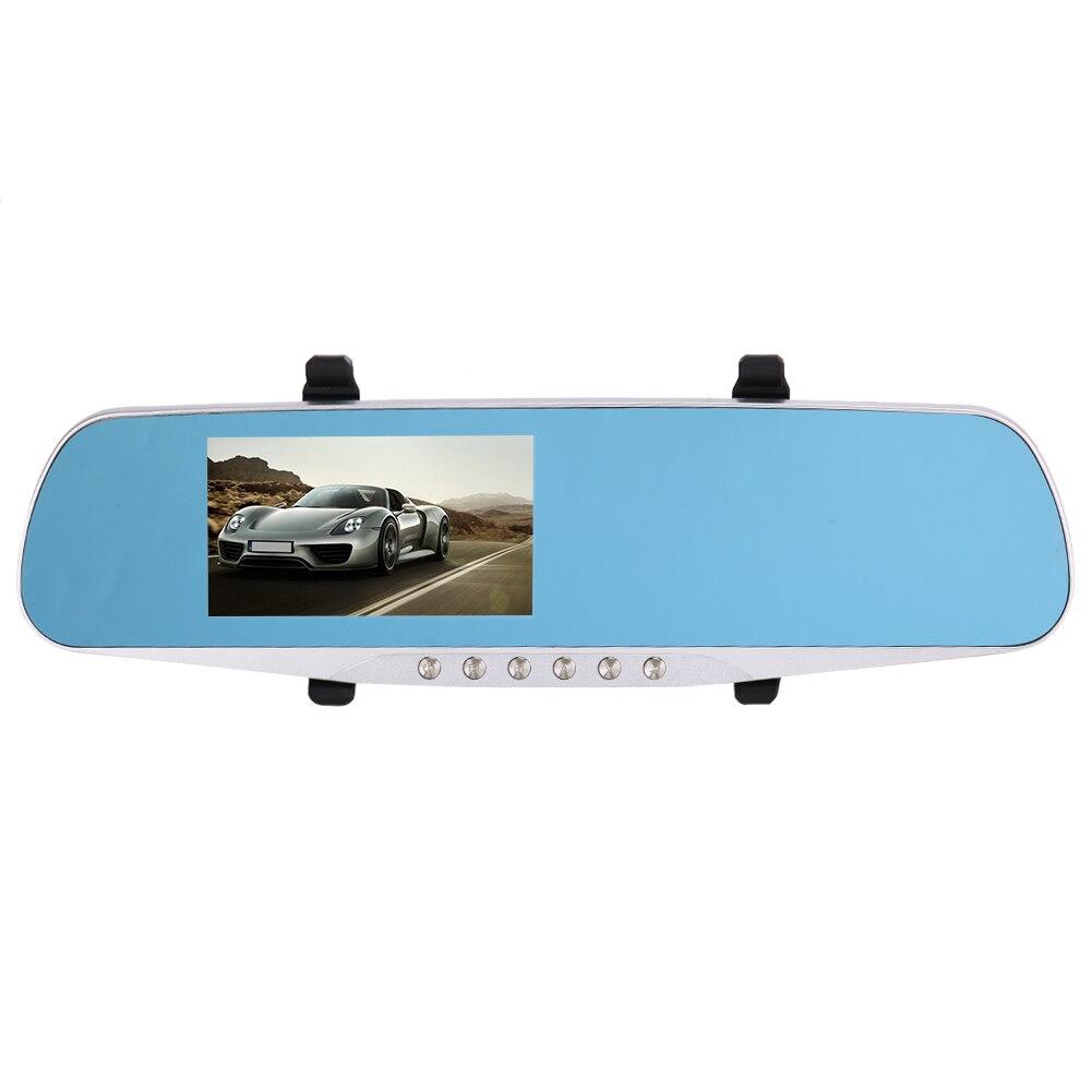 4.3 pouce Miroir De Voiture DVR Full HD 1080 P Double Lentille Avant et retour Caméra pour Toutes Les Voitures Vue Arrière de Miroir De Voiture Caméra DVR Vidéo enregistreur