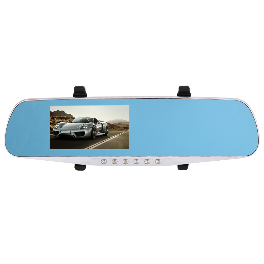 4.3 inch Car Mirror DVR Full HD 1080P Dual Lens Front and Back Camera for All Car Rear View Mirror Car Camera DVR Video Recorder plusobd car recorder rearview mirror camera hd dvr for bmw x1 e90 e91 e87 e84 car black box 1080p with g sensor loop recording
