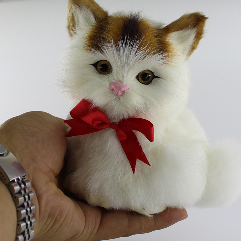 Funny Simulation Animal Doll Plush Sleeping Cats Toy With Sound Kids Toy Birthday Gift Doll Decorations Stuffed Toys