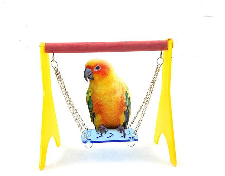 Liberaal Kleine En Medium Papegaai Vogel Training Speelgoed Schommel Hangmat Stand Frame Chain Swingende Plank
