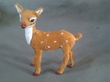 simulation 15x10cm lovely sika deer model toy polyethylene & furs female deer model ,home decoration gift t247