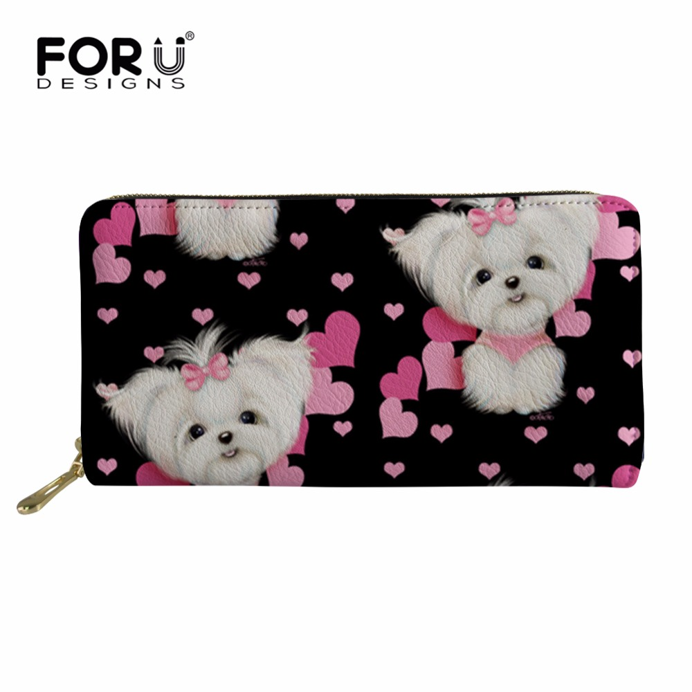 FORUDESIGNS Women Wallet Lady Maltese Purse Coin Purses&Holders for Ladies Rfid PU Wallets Female Purses&Wallets Coin Purse 2018