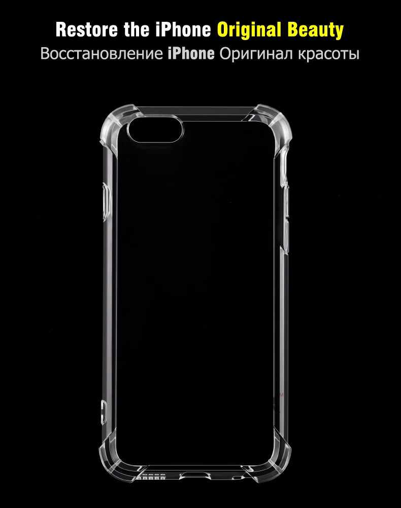 Telefoon Gevallen Voor iPhone 11 Pro Max X 8 7 6 6S Plus X XS XR Fundas Back Cover voor 5 5S SE Silicone Soft TPU Transparant Coque Capa