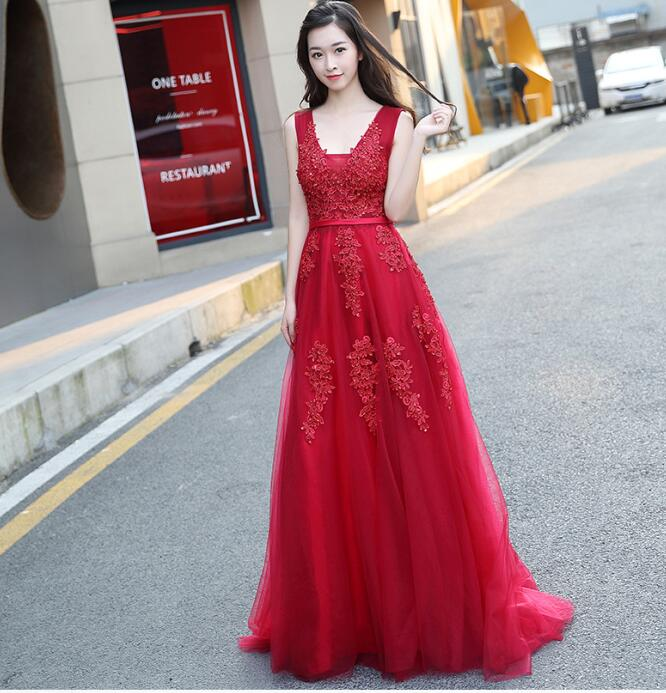 Online Get Cheap Red Long Evening Dresses -Aliexpress.com ...