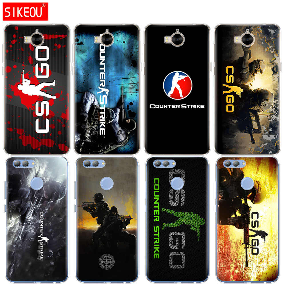 Silicone Case Capa do telefone para huawei Y3 Y6 Y5 2 2 II 2017 nova 2 s LITE plus Counter Strike cs ir