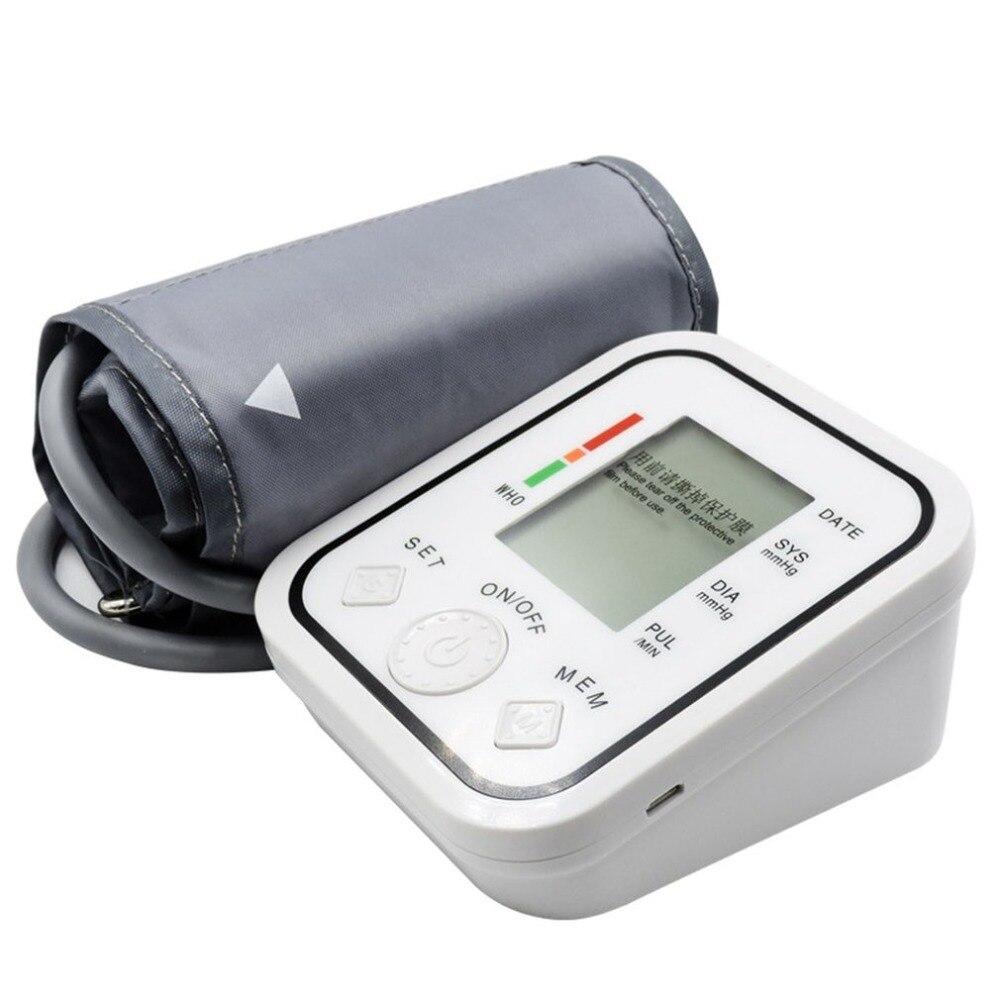 LCD Digitale Oberen Arm Blutdruck Monitor Heart Beat Meter Pulse Maschine Automatische Blutdruck Monitor tonometer manometer