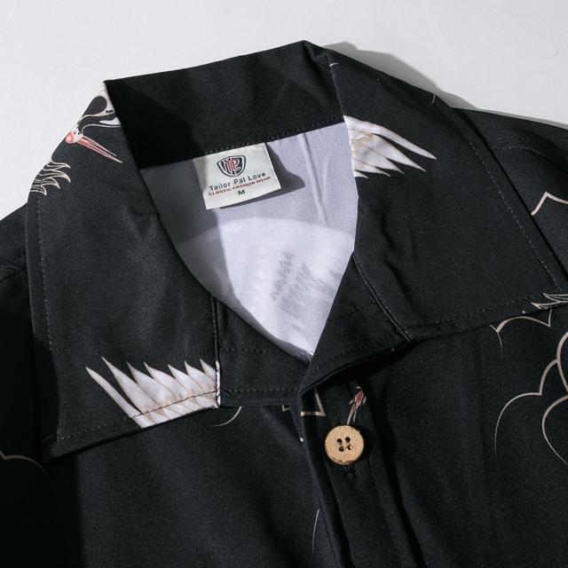 Flying Crane Hawaiian Shirt