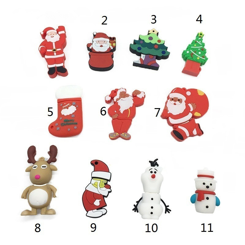 Image 5 - Christmas Cartoon Flash Drive Portable usb flash drive 4GB 8GB 16GB pendrive 32GB 64GB Elk Animal Series flash memory stick-in USB Flash Drives from Computer & Office