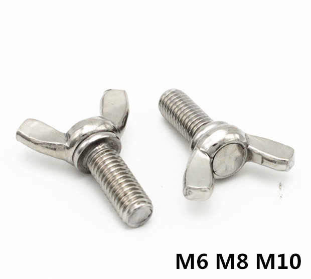 цена на M6/M8/M10 DIN316 Butterfly Bolt Wing Bolt Set Wing Nuts Claw Screw Thumbscrew Stainless Steel