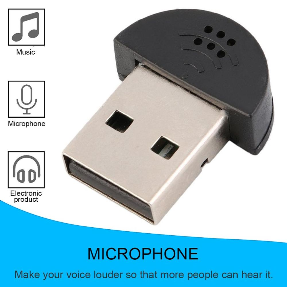 Super Mini USB 2.0 Microphone Portable Studio Speech MIC Audio Adapter Driver Free for Laptop/Notebook/PC/MSN/Skype