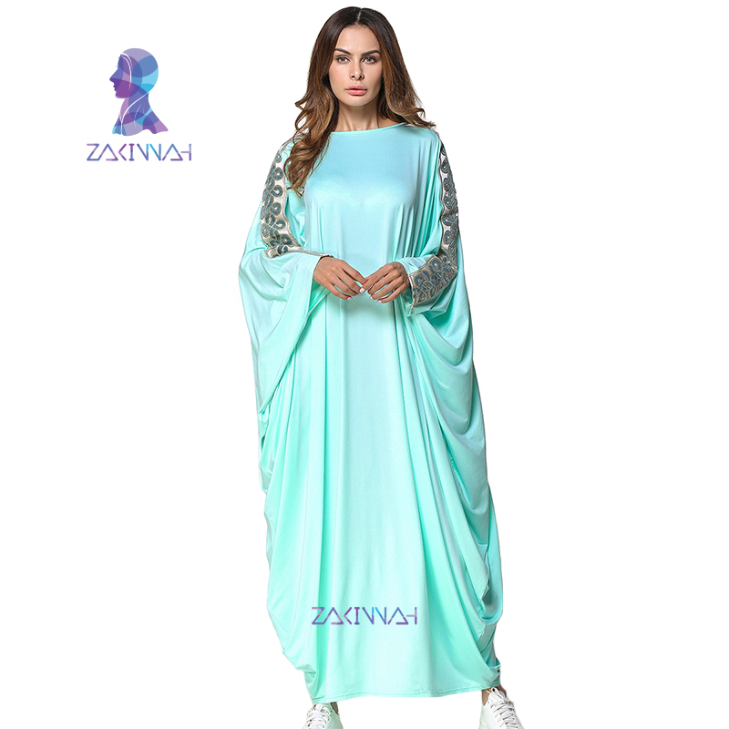 っНовая мода мусульманских Абаи платье шить рукава летучая мышь ... dfcf24ec766