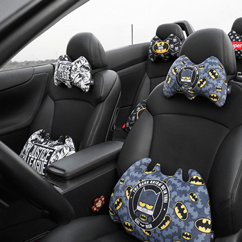 קריקטורה marvel super hero רכב צוואר כרית באטמן קצר בפלאש חם בחורף עבור מכוניות מושב משענות ראש כריות אוטומטי אבזרים