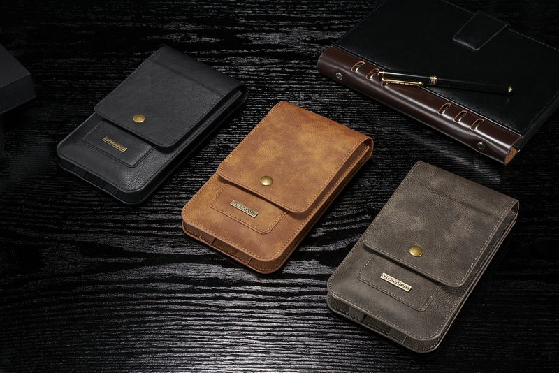 Belt Clip Mobile Phone Genuine Cow Leather Case Hook Loop Pouch For HTC U11 Eyes,For Xiaomi Redmi Note 5 Pro,Meizu M6s,Oppo A83