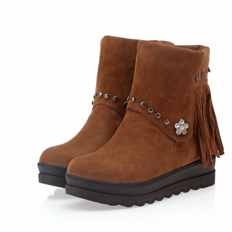 Winter Hot Sexy Black Brown Red Amy Blue Women Combat -2381