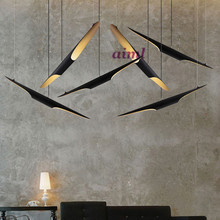 Creative double headed oblique mouth hanging lamp American retro personalized aluminum dining room Delightfull Coltrane