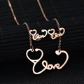 Charm Jewelry Creative Stainless Steel ECG Bijoux Set Rose Gold Plated Stethoscope Love Crystal Jewelry Set For Weeding