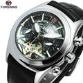 Unique watches Men Luxury Brand Skeleton Face Flywheel Automatic Mechanical Wrist watch Clock Men Leather Montre Homme Hodinky