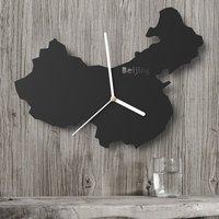 The Designer Of Scandinavian Minimalist Modern Living Room Lamps Creative Personality Art Mute World Map Clock