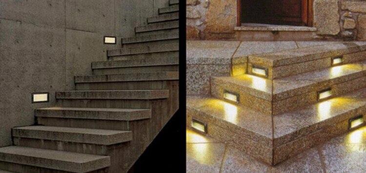 lâmpada de parede ribalta escada direção da