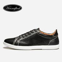 Men Sneakers Size 36 48 Cow Split Leather Top Quality Original Hecrafted Brand Autumn Men Shoes