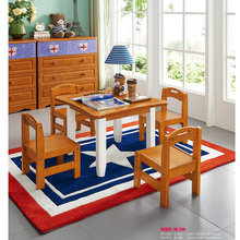 508-506 Solid wood small children table set for children bedroom kindergarten nursery school  small dining round rectangle table