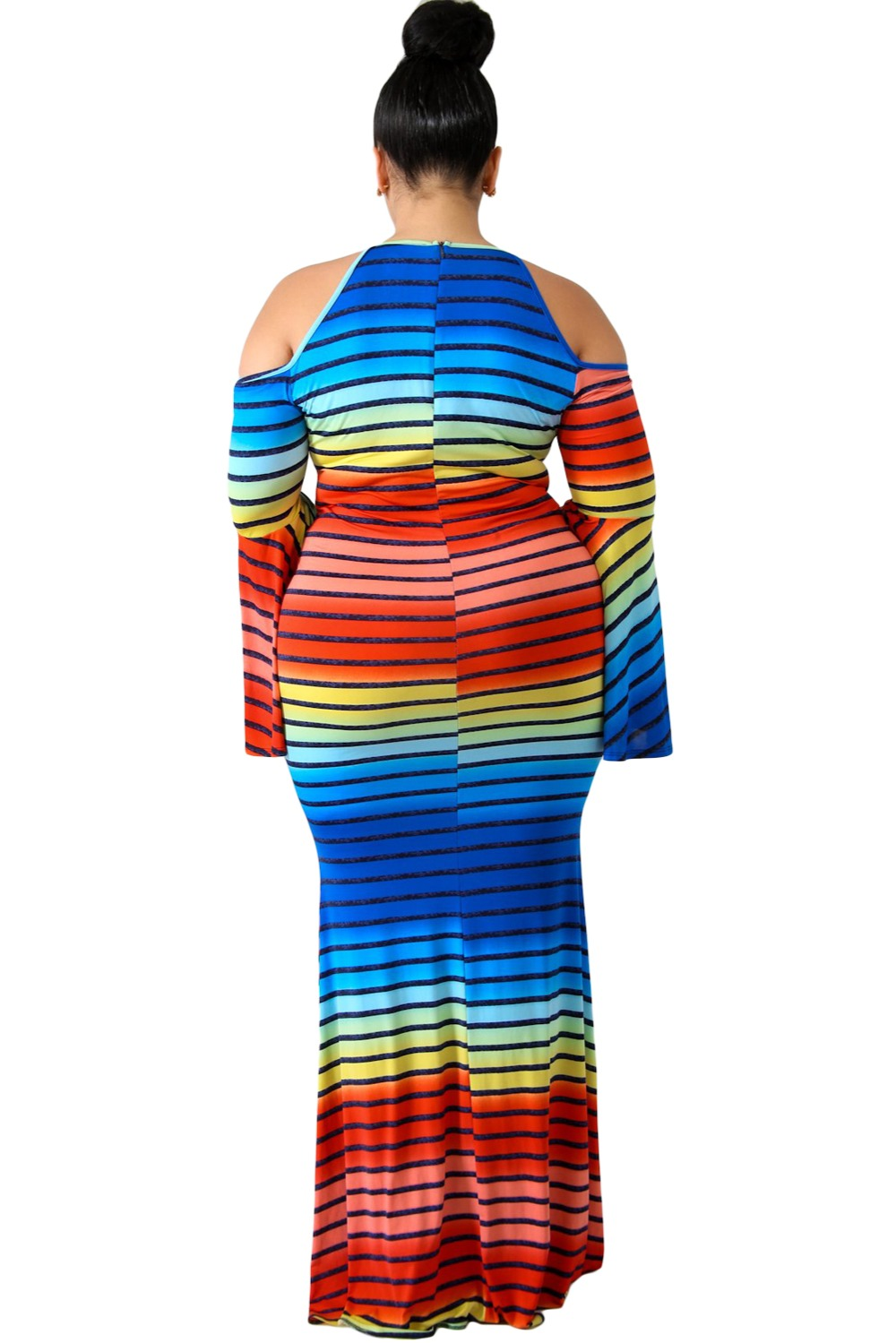 ... Rainbow-Striped-Cold-Shoulder-Plus-Size-Dress-LC610421-. coupon. 3.  WOMEN TOP 37c6bf8346a0
