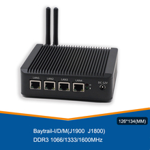 ATOM E3845 vpn-сервер Мини ПК четырехъядерный безвентиляторный pfsense брандмауэр с 4 портами Lan маршрутизатор Поддержка AES-NI