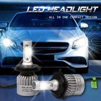 Castaleca Auto Headlight Hi Lo Beam Bulb 2pcs 880 9004 HB1 6000K 72W 7600LM White Super