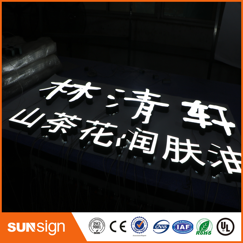 3D Mirror Stainless Steel Alphabet Letters