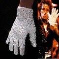 MJ MICHAEL JACKSON RHINESTONE LENTEJUELAS CRYSTAL GUANTE BRILLANTE Espectáculo Hecho A Mano Regalo de Colección