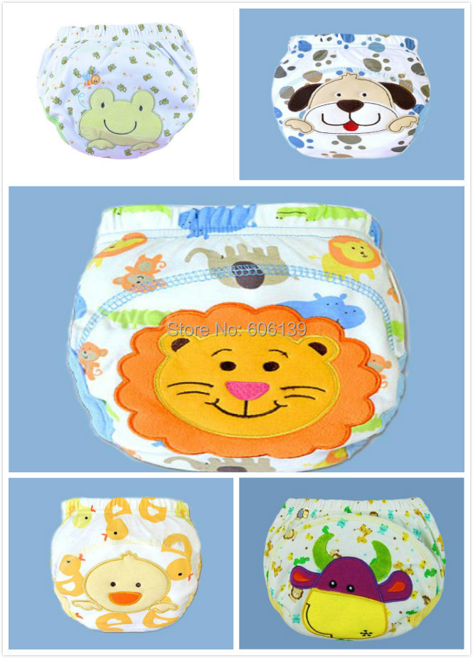Cute Waterproof 3 layers potty training pants for baby boy briefs newborn underwear panties 1-3years 5pcs/lot
