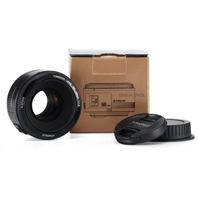D'origine YONGNUO 50mm f1.8 Caméra Lentille lentilles Grande Ouverture Auto Focus pour Canon 5DII 5 DIII 5D 500D 400D 650D 600D 450D 60D 7D