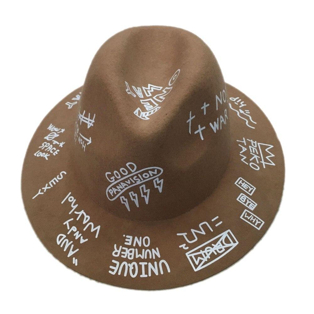 Женская модная винтажная Женская и мужская шляпа с широкими полями из шерсти фетровая шляпа флоппи котелок фетровая шляпа