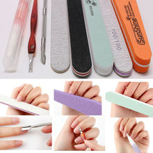 8pcs Professional Nail Art Manicure Tools Kit Nail Files Durable Buffer Nails Pusher Cuticle Revitalizer Oil Accessories