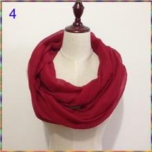 Новинка, дизайнерские одноцветные шарфы с круговой петлей, женский шарф, роскошный бренд, снуд для девушек, шаль, дешевые шарфы