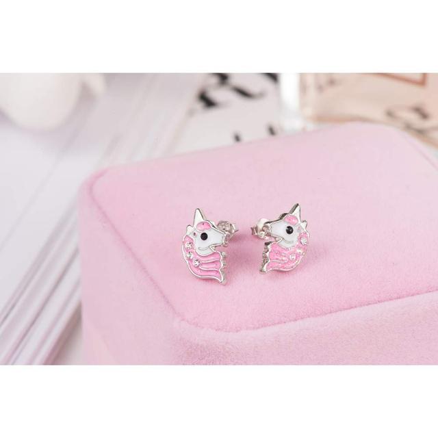 Pink Unicorn Stud Earring
