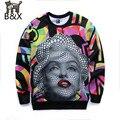 New 2015 Arrivals Men 3d sweatshirts print Marilyn Monroe colorful blocks slim hoodies Asia S-XL