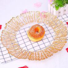 33cm plates glass fruit gold