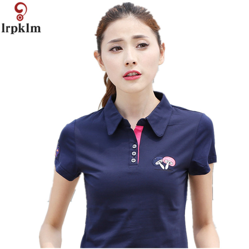 US $16.04 50% OFF|Fashion Womens Polo Shirts Short Sleeve Women Polo Shirts  Summer Plus Size 6XL White Blue Polo Shirts Slim Fit Womens Tops YY945-in  ...
