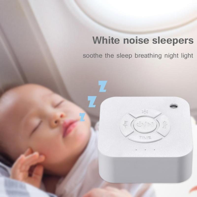 White Noise Machine Baby Sleeping Lamp USB Rechargeable Timed Shutdown Sleep Sound Machine For Sleeping Relaxation Baby Adult