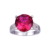 Jqueen 8ct luxo red ruby gems anel de aniversário de casamento set 925 sterling silver corte redondo das mulheres de alta qualidade mulheres jóias